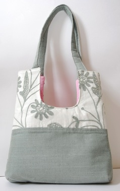 Steel Gray Lace Danielle U Handbag