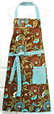 SilverLining Designs - Apron Alluring Agapanthus, brown